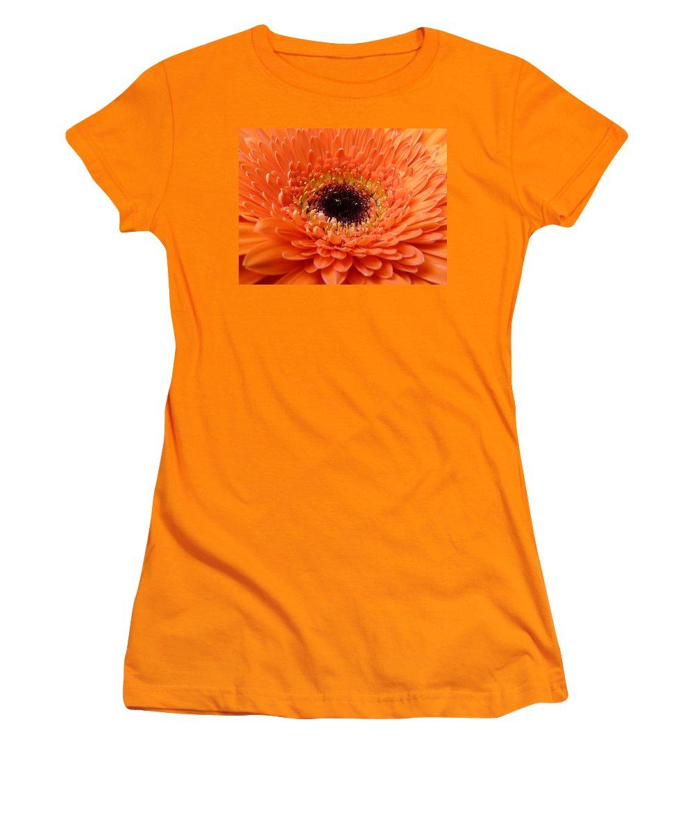 Gerbera Women's T-Shirt (Athletic Fit) featuring the photograph Gerbera by Daniel Csoka