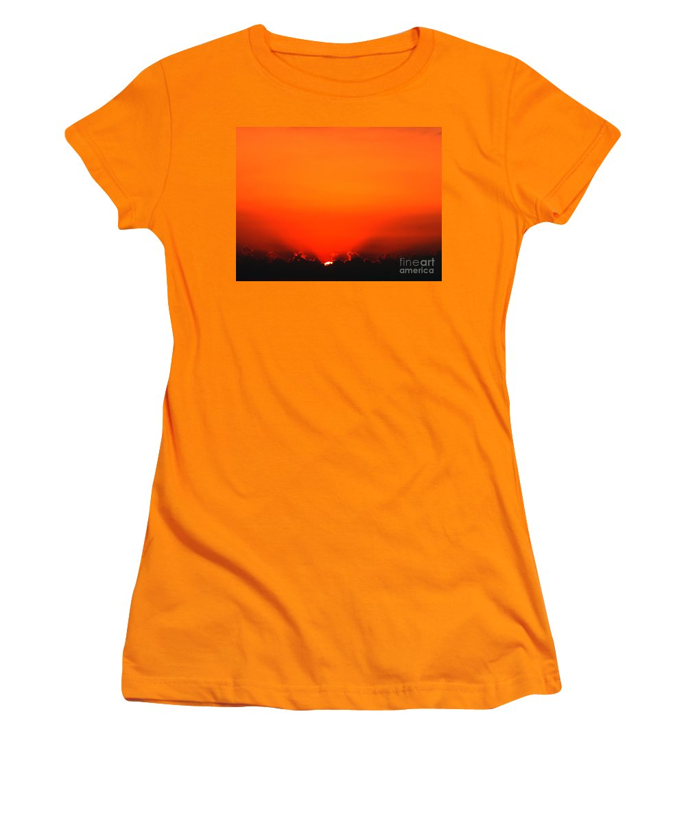 Sun Women's T-Shirt (Athletic Fit) featuring the photograph A New Day by Amanda Barcon