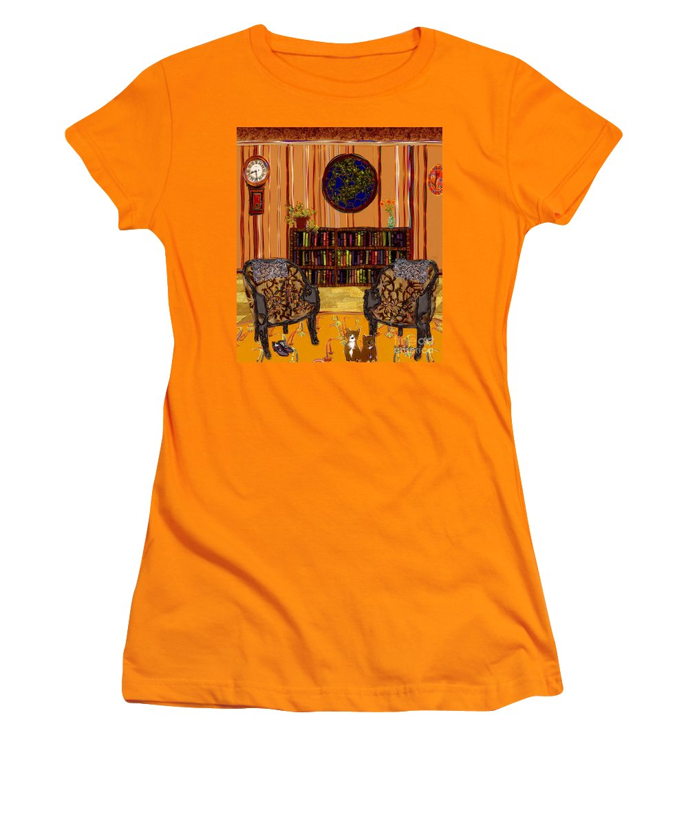 Folk Art Women's T-Shirt (Athletic Fit) featuring the painting A Victorian Horror by RC deWinter