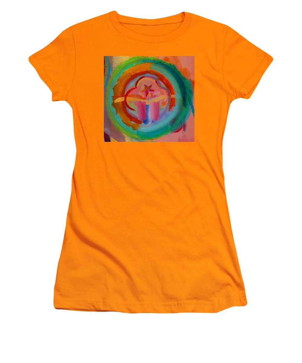 Logo Women's T-Shirt (Athletic Fit) featuring the painting Colour States by Charles Stuart