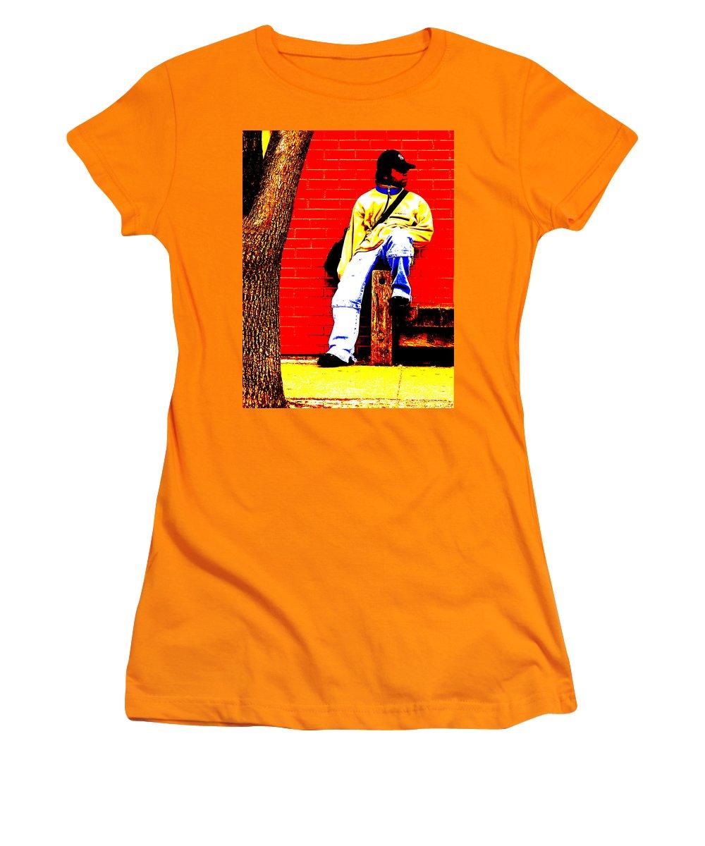 Canvas Women's T-Shirt (Athletic Fit) featuring the photograph Cross Town Run by Albert Stewart