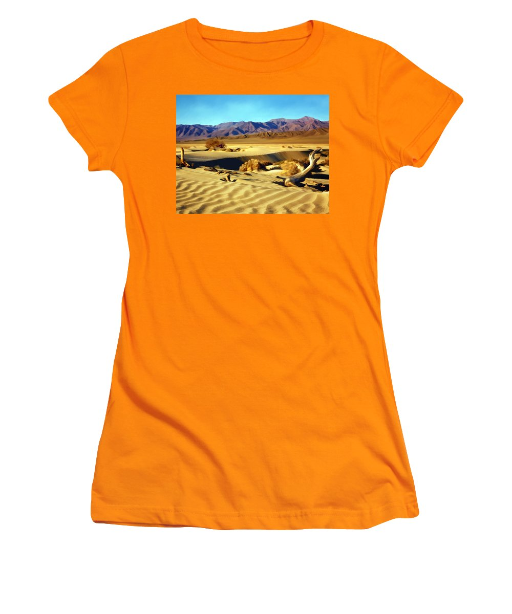 Death Valley Women's T-Shirt (Athletic Fit) featuring the photograph Death Valley by Kurt Van Wagner
