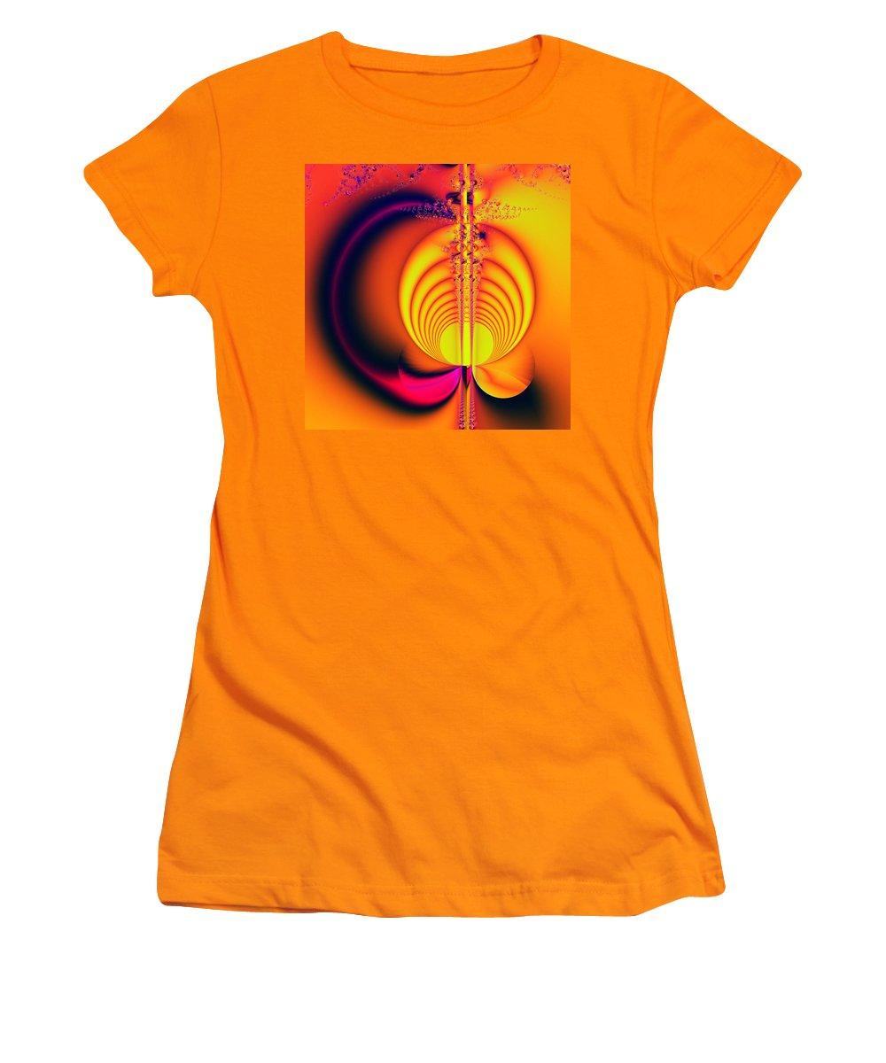 Digital Art Women's T-Shirt (Athletic Fit) featuring the digital art Eclipse by Amanda Moore