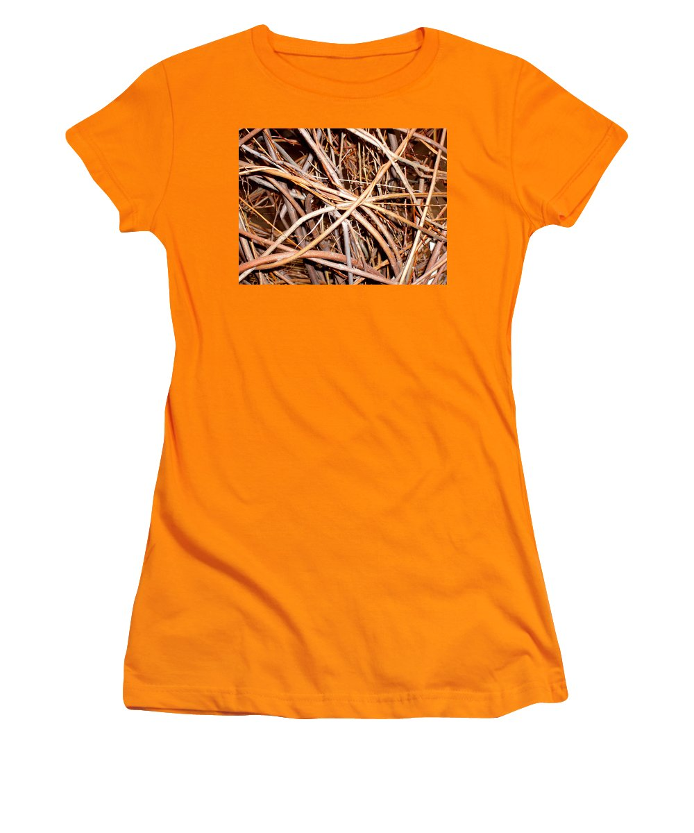 Vines Women's T-Shirt (Athletic Fit) featuring the photograph Entangled by Wayne Potrafka