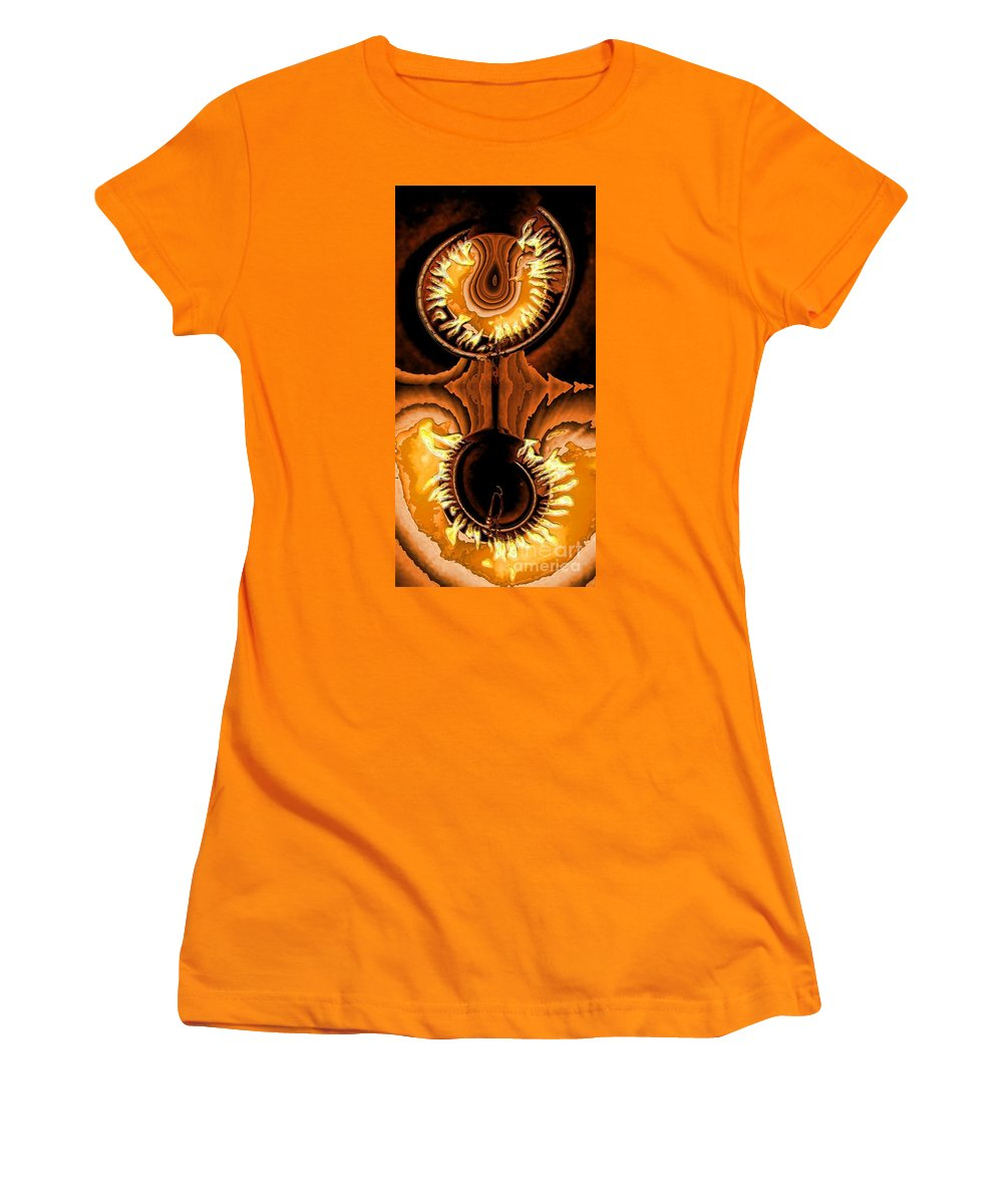 Collage Women's T-Shirt (Athletic Fit) featuring the digital art Fired Up by Ron Bissett