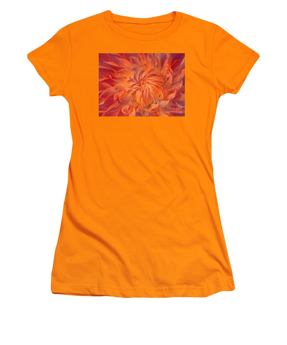 Flower Women's T-Shirt (Athletic Fit) featuring the photograph Flame by Jacky Gerritsen