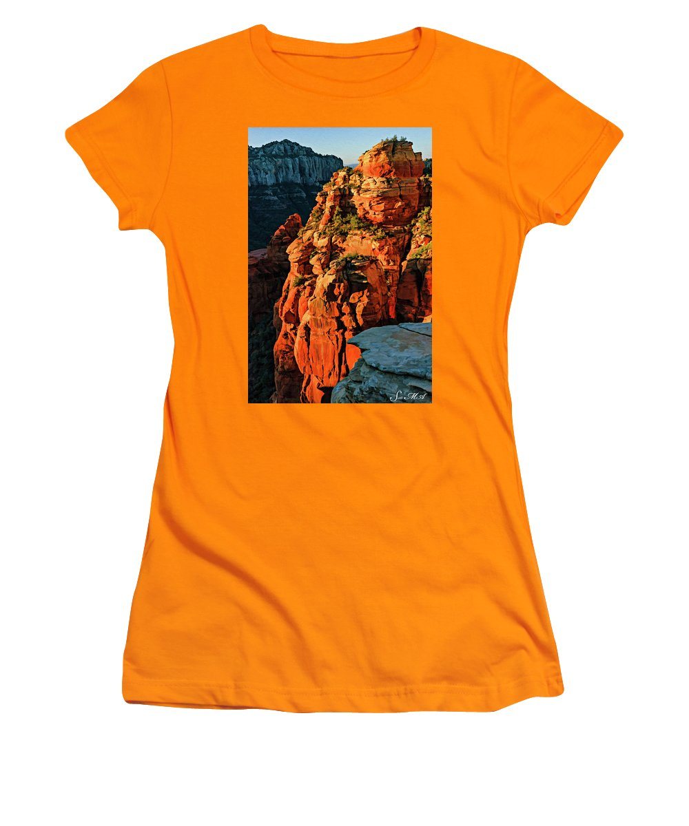 Arizona Women's T-Shirt (Athletic Fit) featuring the photograph Flying Buttress 06-034 by Scott McAllister