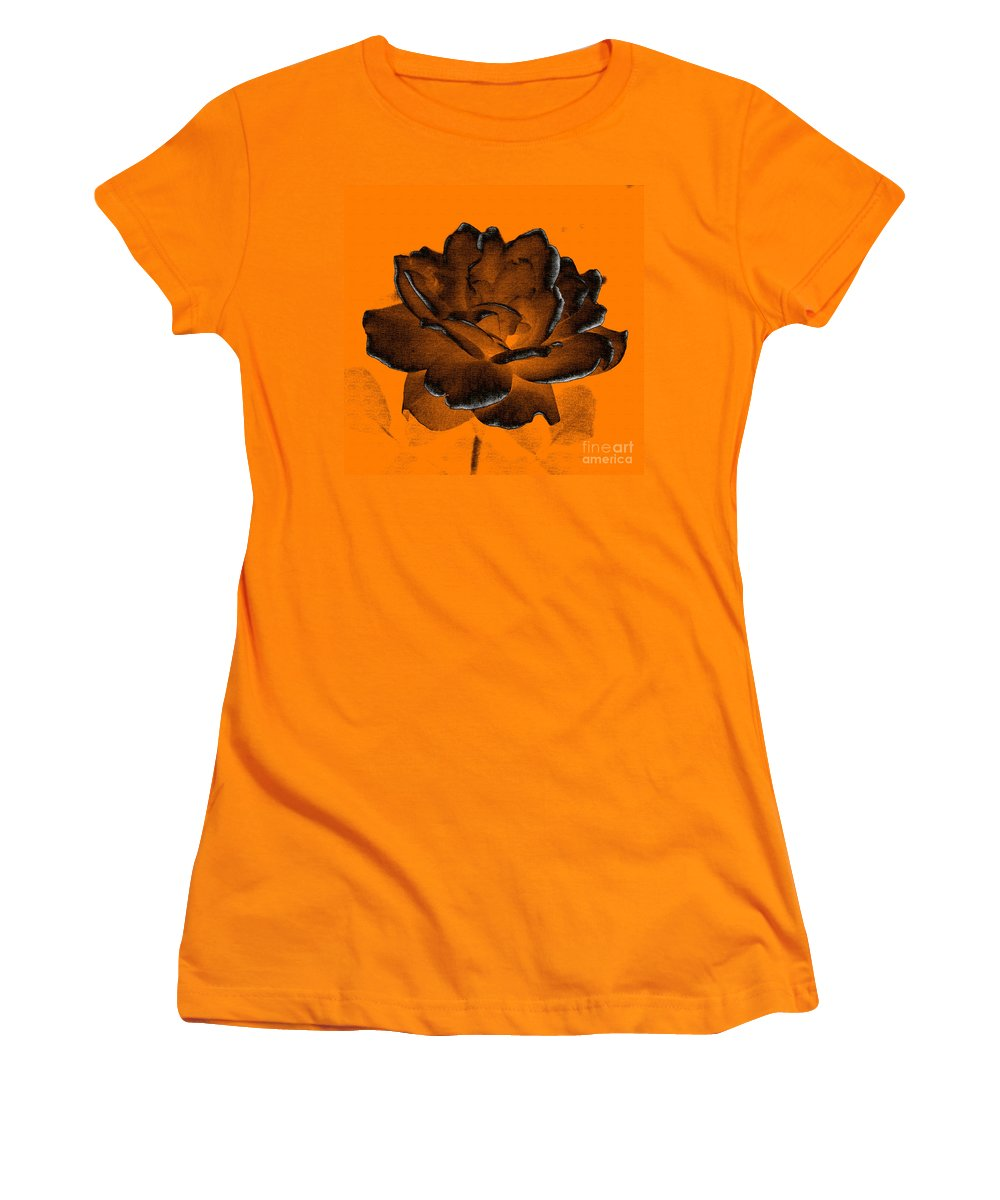 Rose Women's T-Shirt (Athletic Fit) featuring the photograph Forced Into Shape by Amanda Barcon