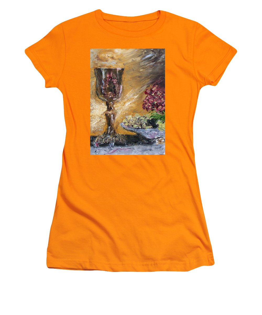 Women's T-Shirt (Athletic Fit) featuring the painting Goblet by Stephen King