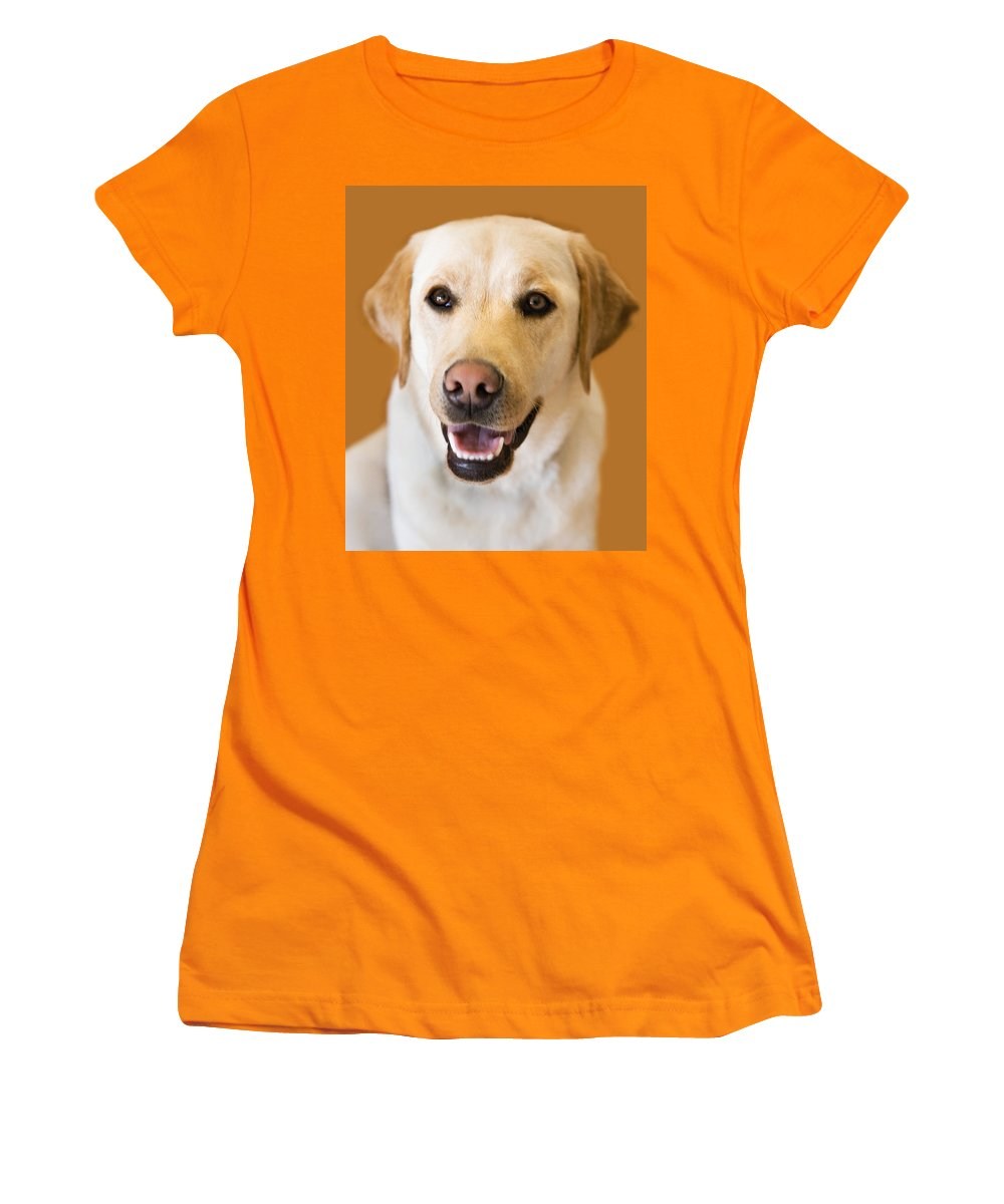 Lab Women's T-Shirt (Athletic Fit) featuring the photograph Golden Lab by Marilyn Hunt
