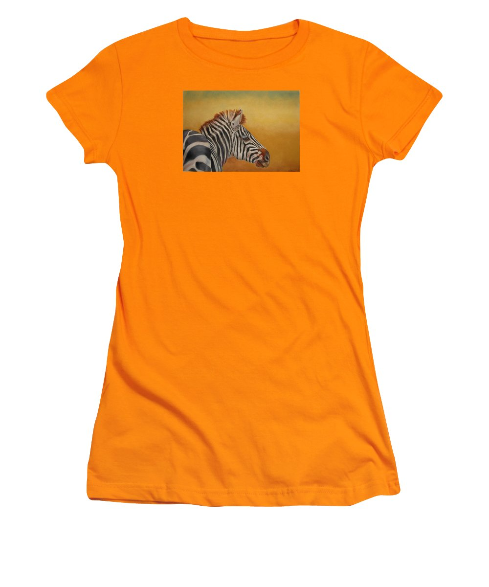 Africa Women's T-Shirt (Athletic Fit) featuring the painting Hello Africa by Ceci Watson