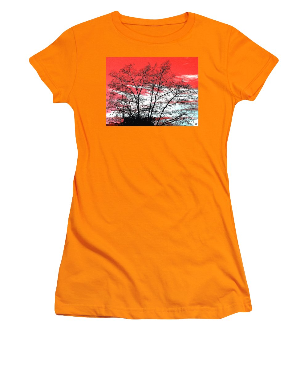 Impressions Women's T-Shirt (Athletic Fit) featuring the digital art Impressions 6 by Will Borden