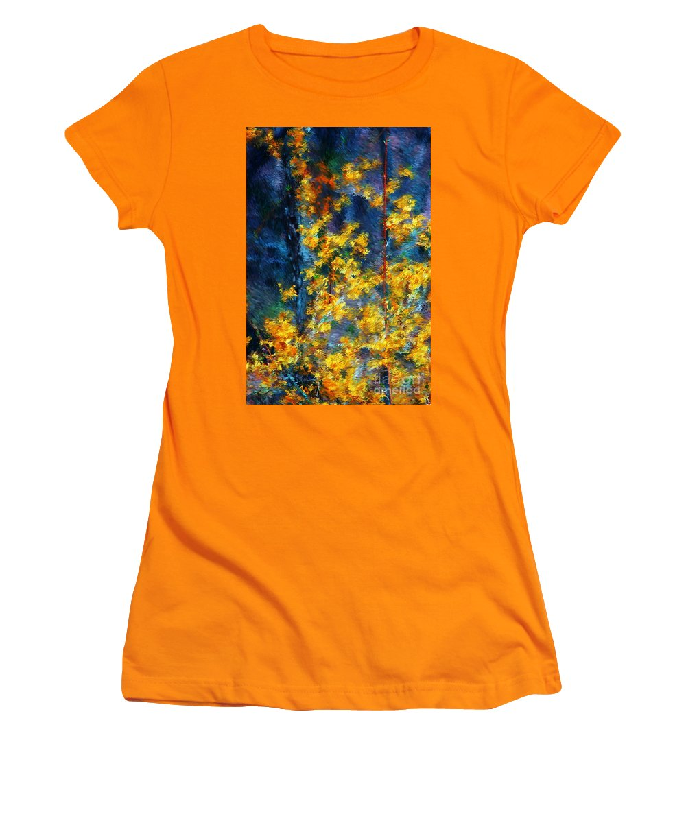 Nature Women's T-Shirt (Athletic Fit) featuring the photograph In The Woods Again by David Lane