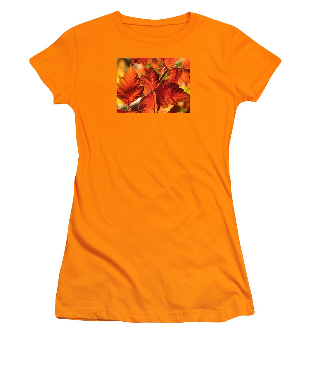 Photograph Women's T-Shirt (Athletic Fit) featuring the photograph Jack Painted My Yard by J R Seymour