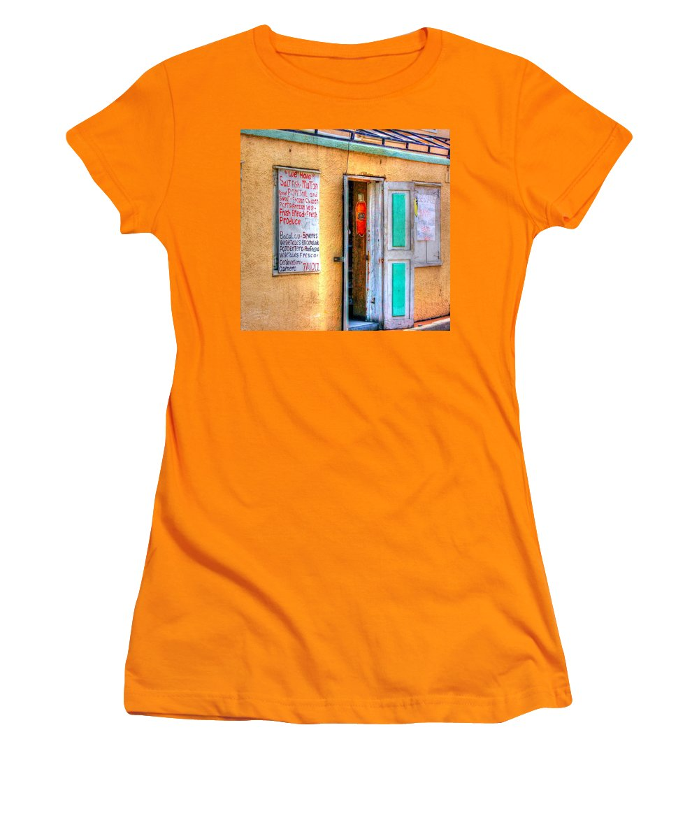 Store Women's T-Shirt (Athletic Fit) featuring the photograph Local Store by Debbi Granruth