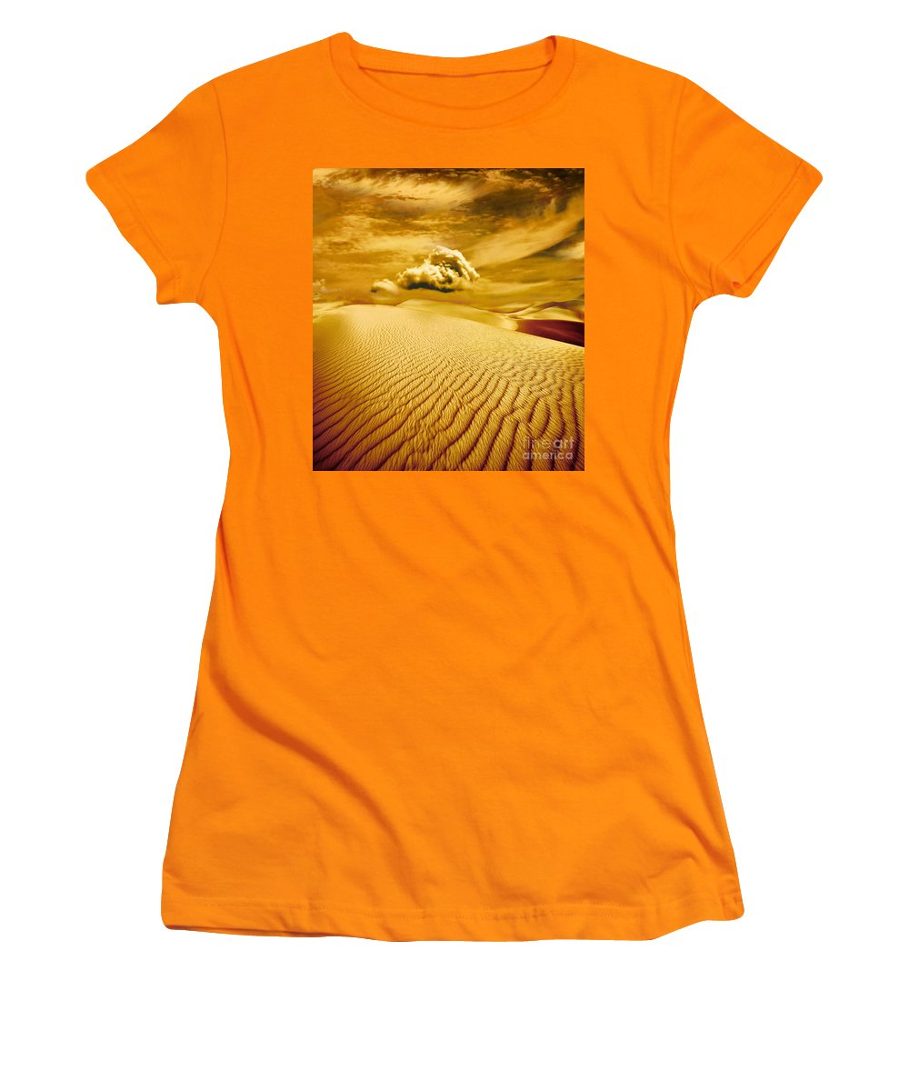 Desert Women's T-Shirt (Athletic Fit) featuring the photograph Lost Worlds by Jacky Gerritsen