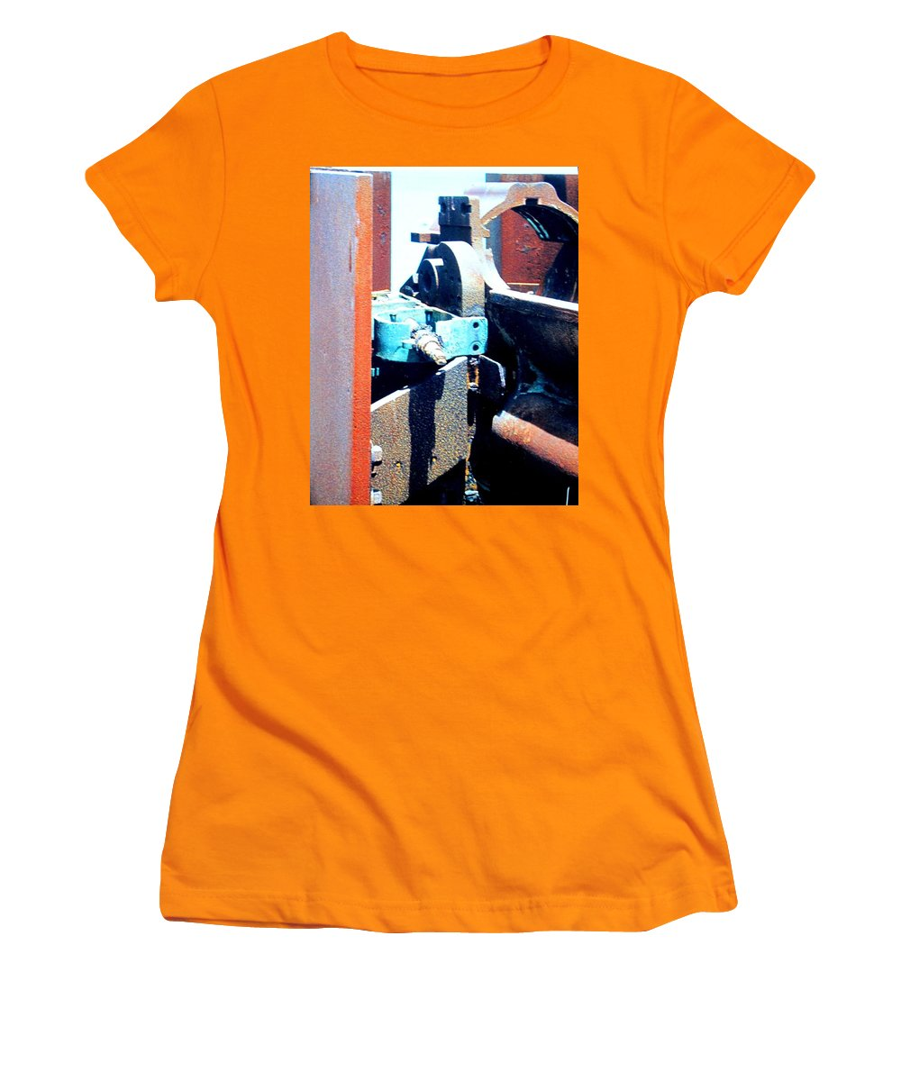 Rust Women's T-Shirt (Athletic Fit) featuring the photograph Machinery by Ian MacDonald