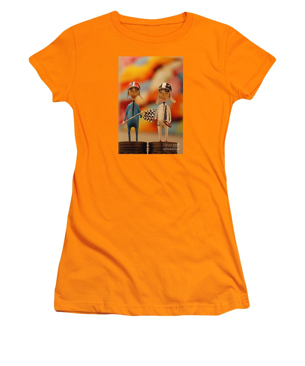 Martini Women's T-Shirt (Athletic Fit) featuring the sculpture Martini Racing by Jos Van de Venne