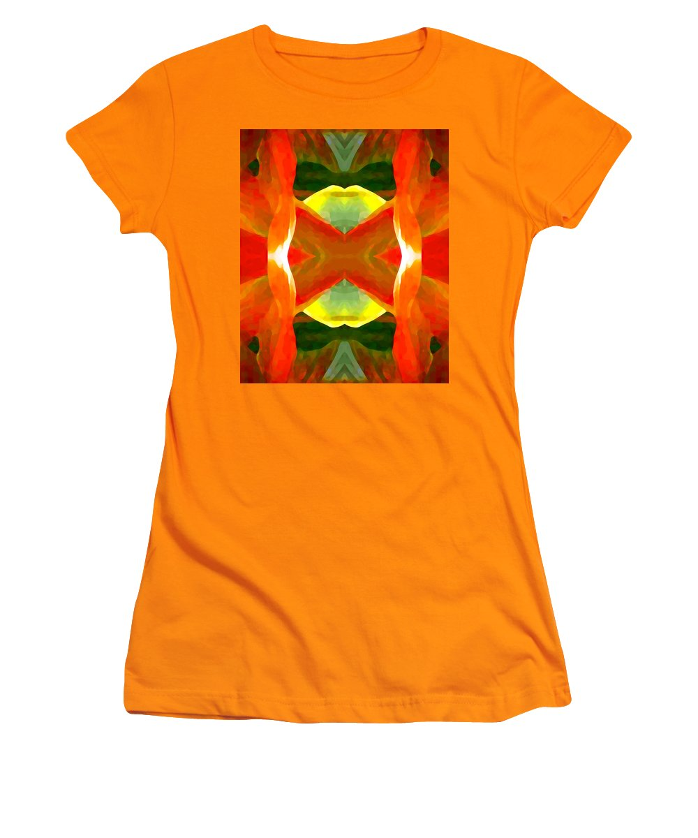 Abstract Women's T-Shirt (Athletic Fit) featuring the painting Meditation by Amy Vangsgard