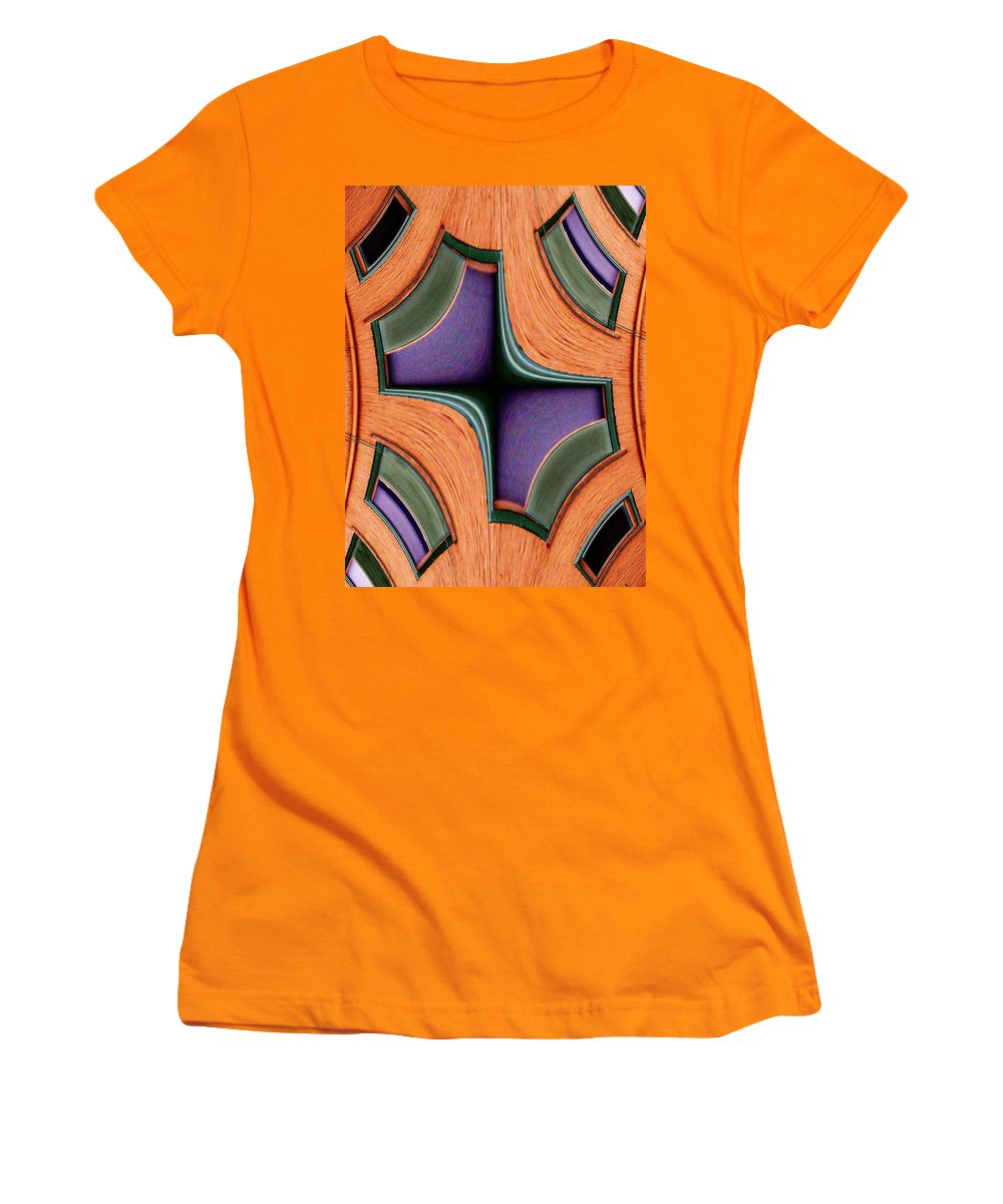 Windows Women's T-Shirt (Athletic Fit) featuring the photograph Melded Windows by Tim Allen