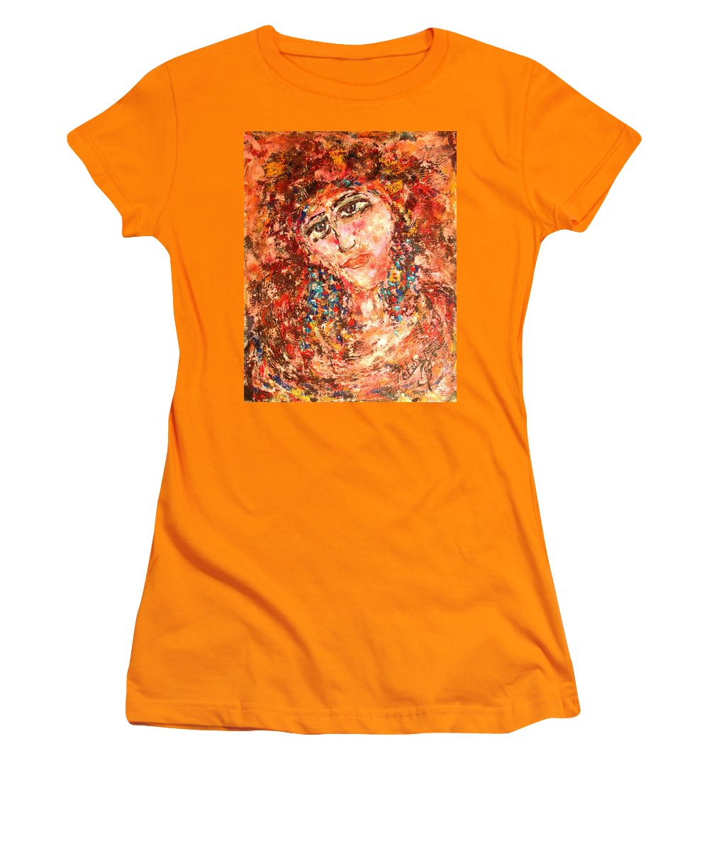 Sadness Women's T-Shirt (Athletic Fit) featuring the painting Missing You by Natalie Holland
