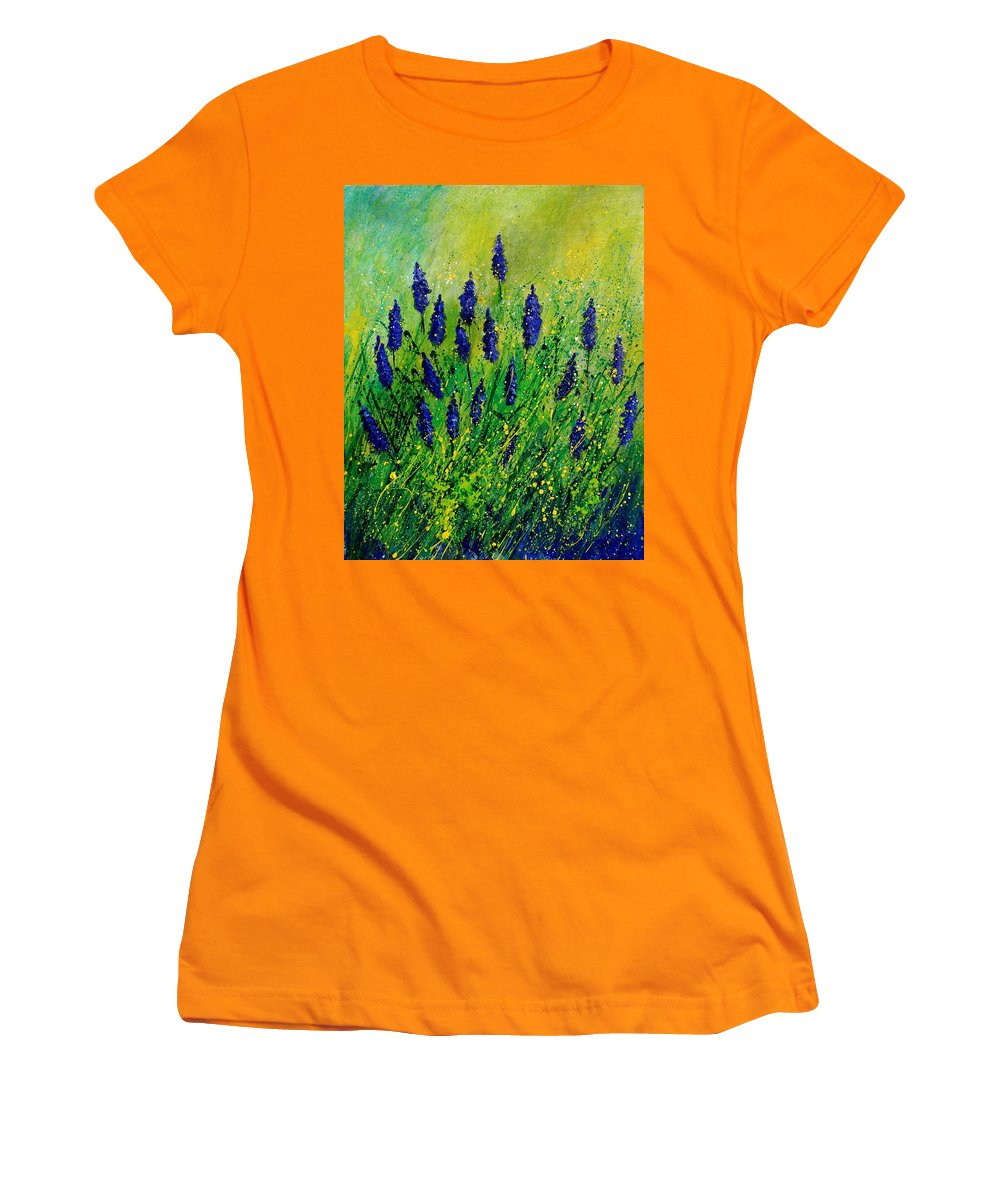 Flowers Women's T-Shirt (Athletic Fit) featuring the painting Muscaris 4590 by Pol Ledent