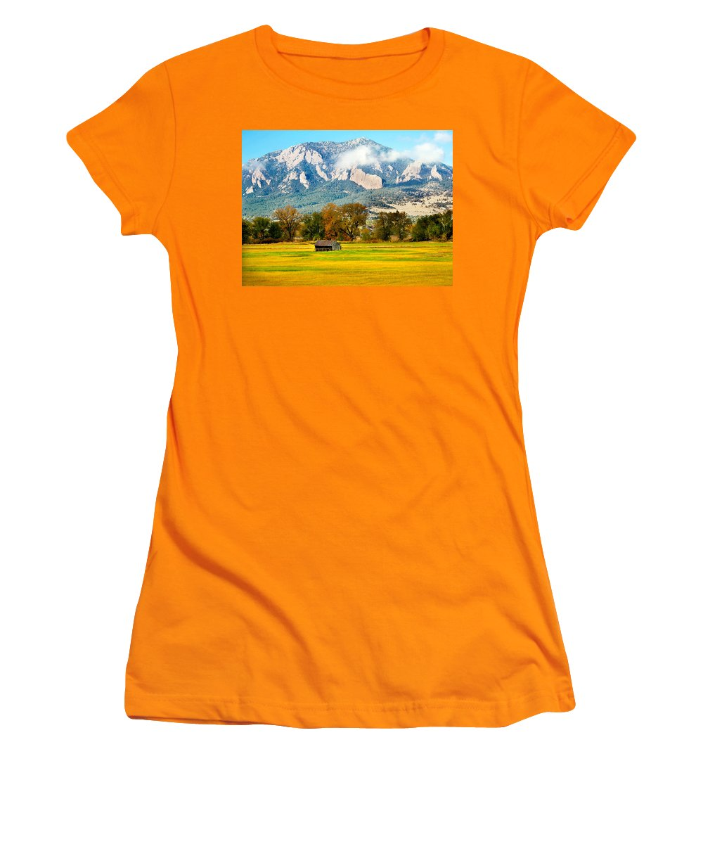 Rural Women's T-Shirt (Athletic Fit) featuring the photograph Old Shed by Marilyn Hunt