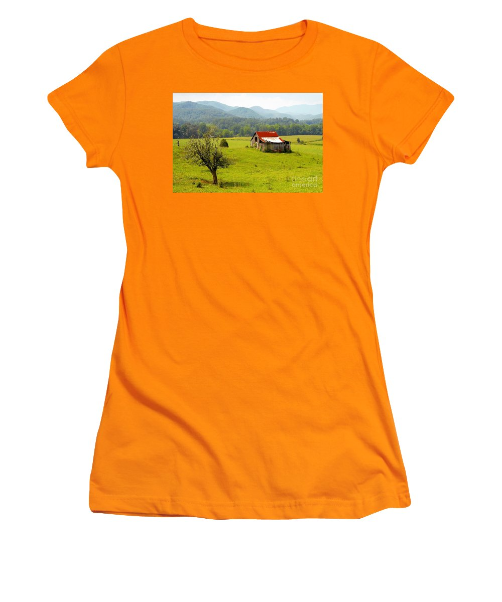 Farm Women's T-Shirt (Athletic Fit) featuring the photograph Once Upon A Time by David Lee Thompson
