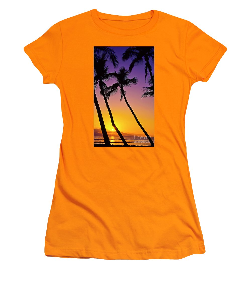 Sunset Women's T-Shirt (Athletic Fit) featuring the photograph Paradise by Jim Cazel