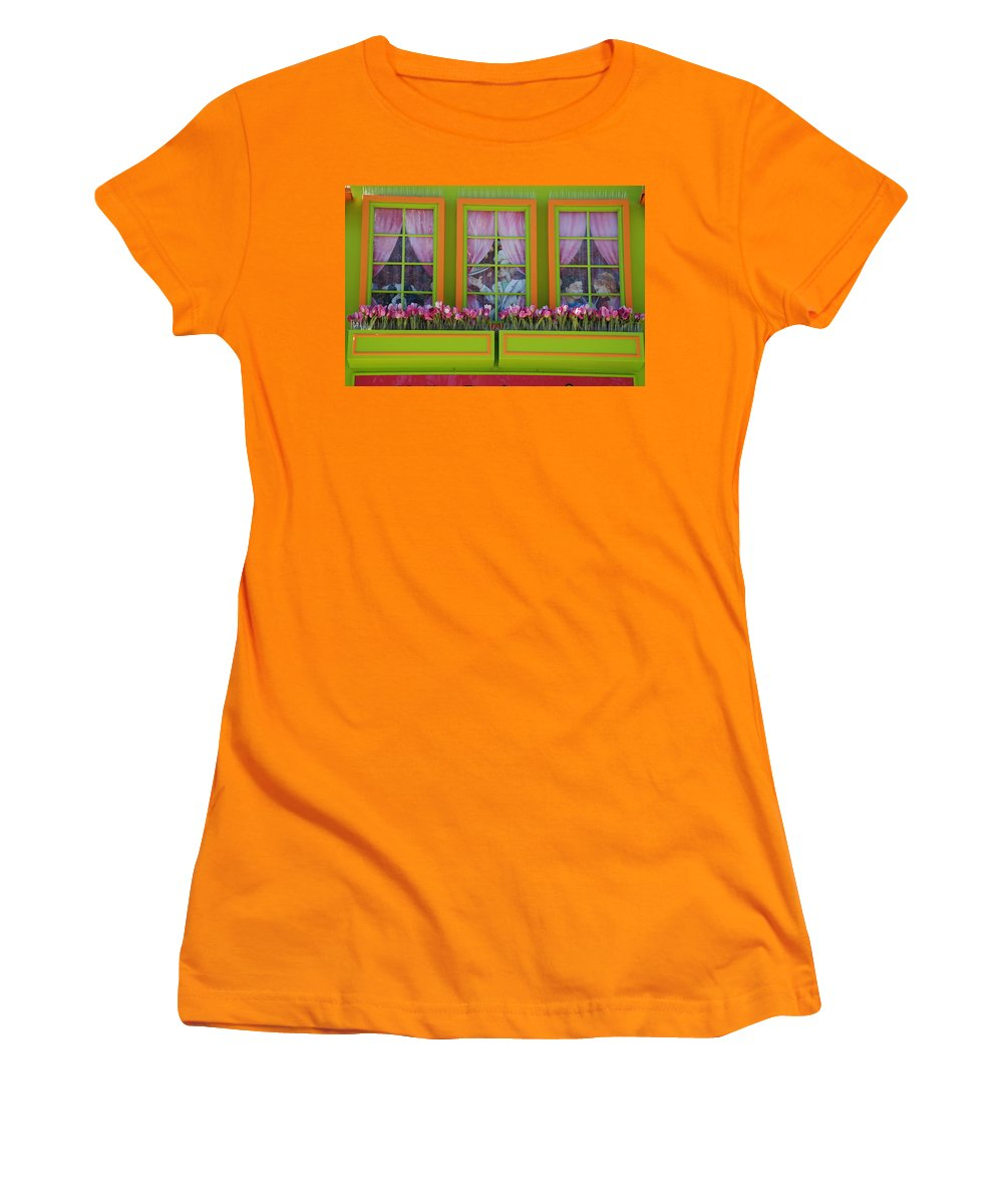 Architecture Women's T-Shirt (Athletic Fit) featuring the photograph Pastle Windows by Rob Hans