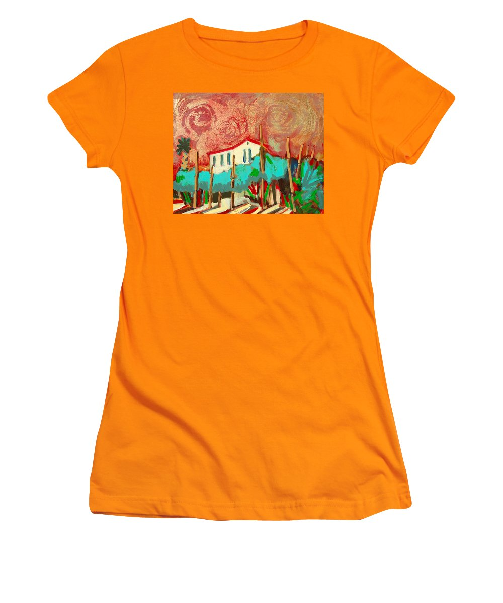 Tuscany Women's T-Shirt (Athletic Fit) featuring the painting Ricordare by Kurt Hausmann