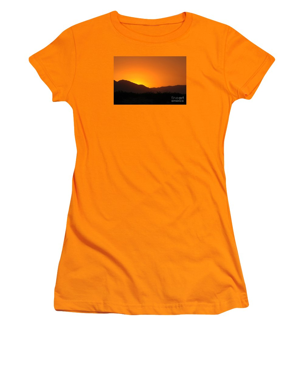 Sunset Women's T-Shirt (Athletic Fit) featuring the photograph San Jacinto Dusk Near Palm Springs by Michael Ziegler