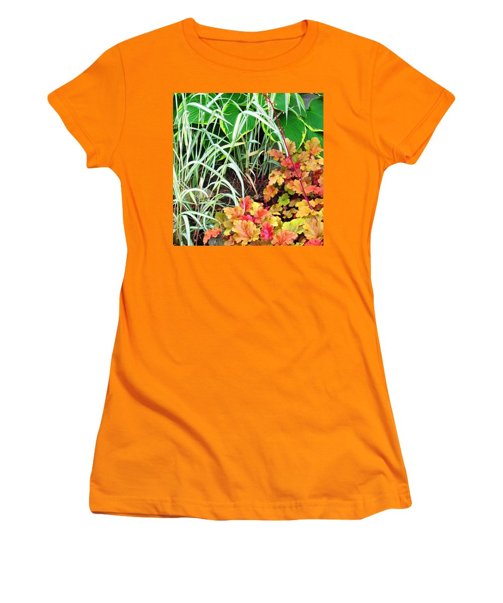 Garden Women's T-Shirt (Athletic Fit) featuring the photograph Snail In A Rich Composition by Ian MacDonald