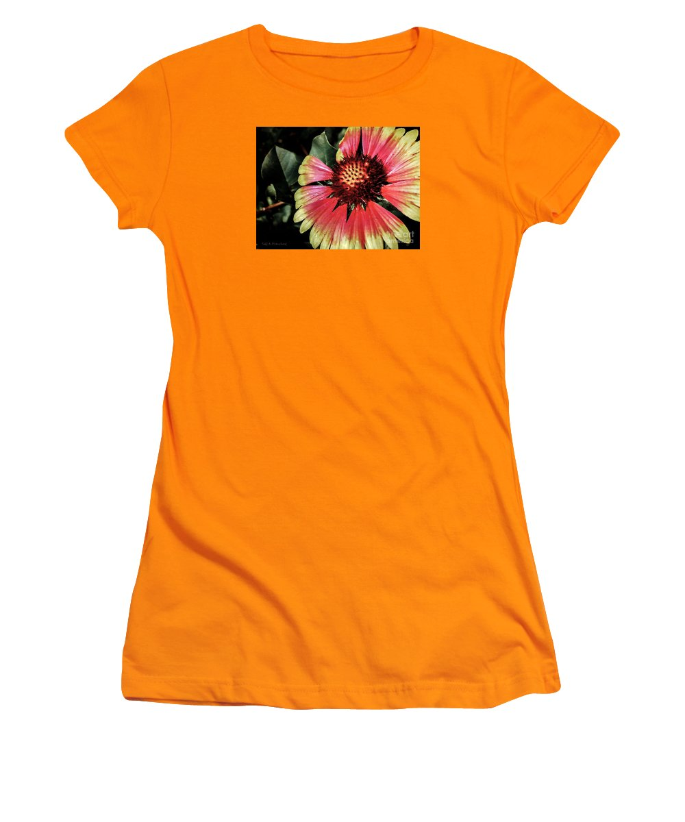 Flora Women's T-Shirt (Athletic Fit) featuring the photograph Soaking Up The Sun by Todd A Blanchard
