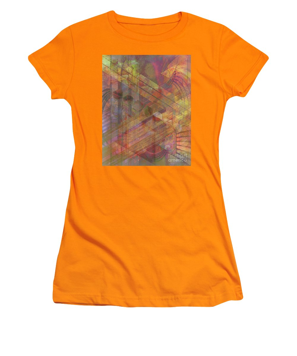 Soft Fantasia Women's T-Shirt (Athletic Fit) featuring the digital art Soft Fantasia by John Beck