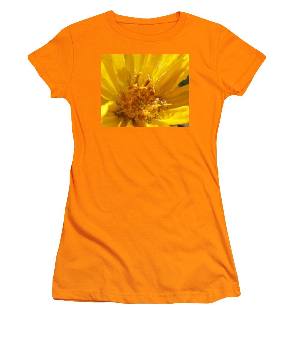 Goldeneye Women's T-Shirt (Athletic Fit) featuring the photograph Starry Goldeneye by Heather Coen