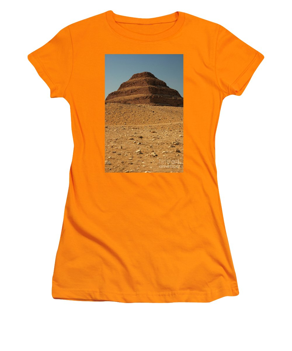 Africa Women's T-Shirt (Athletic Fit) featuring the photograph Step Pyramid by Joe Ng
