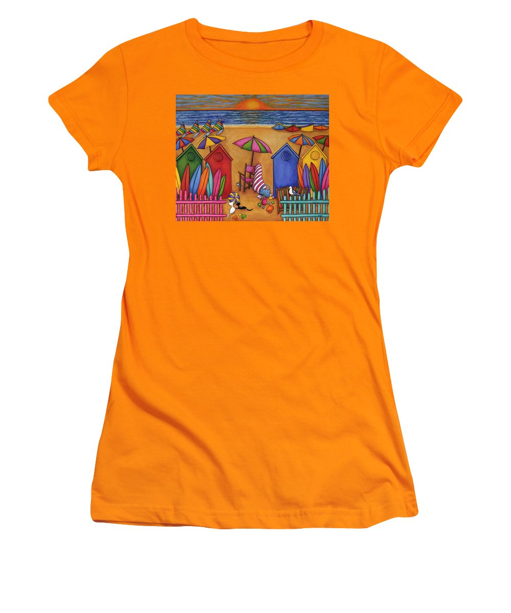 Summer Women's T-Shirt (Athletic Fit) featuring the painting Summer Delight by Lisa Lorenz