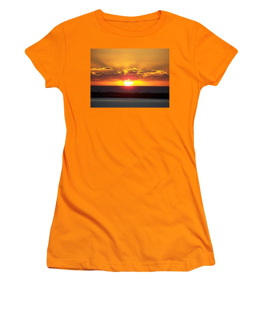Sunset Women's T-Shirt (Athletic Fit) featuring the photograph Sunset 0010 by Laurie Paci