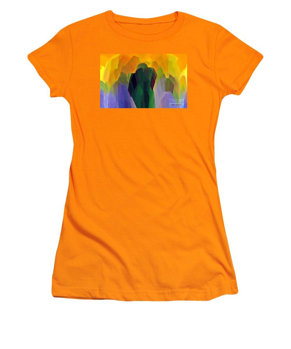 Garden Women's T-Shirt (Athletic Fit) featuring the digital art The Gardener by Shelley Jones
