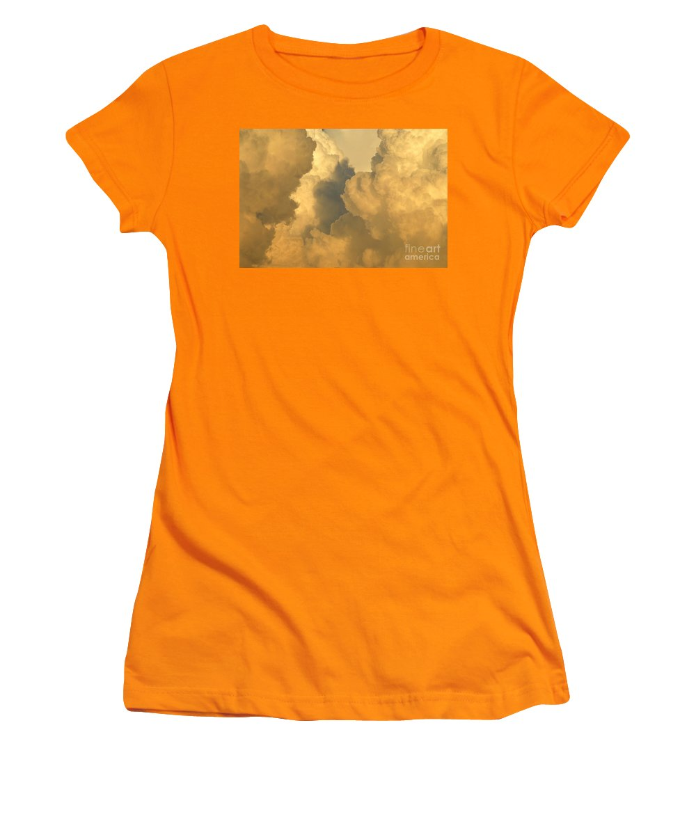 Clouds Women's T-Shirt (Athletic Fit) featuring the photograph Thunder Heads by David Lee Thompson