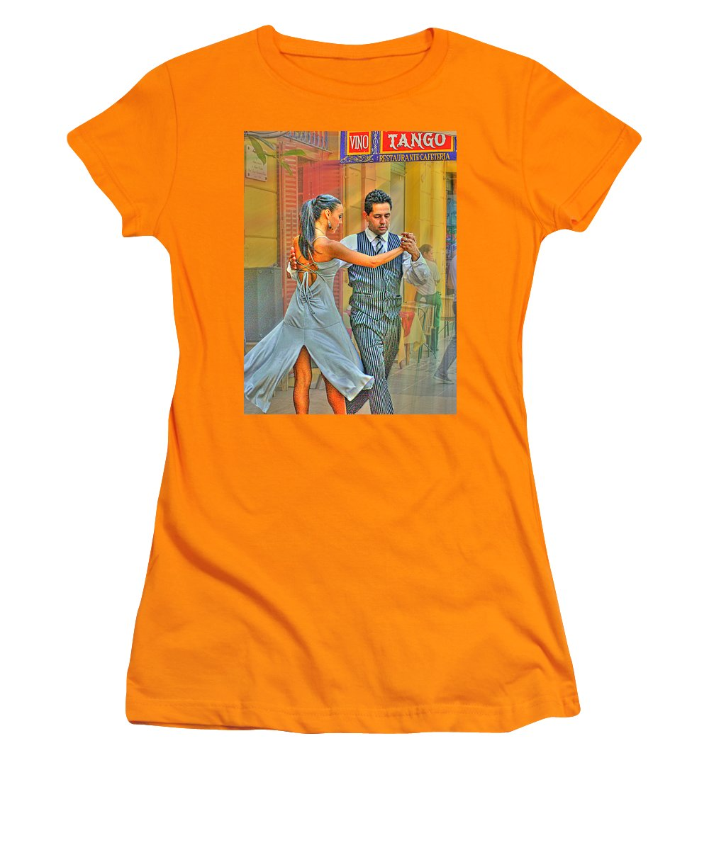 Tango Women's T-Shirt (Athletic Fit) featuring the photograph Too Tango by Francisco Colon