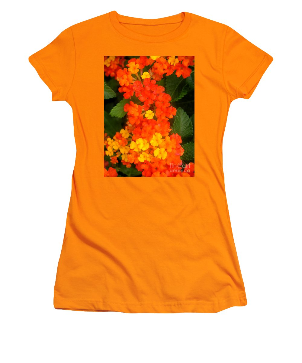Nature Women's T-Shirt (Athletic Fit) featuring the photograph Volcanic Display by Lucyna A M Green