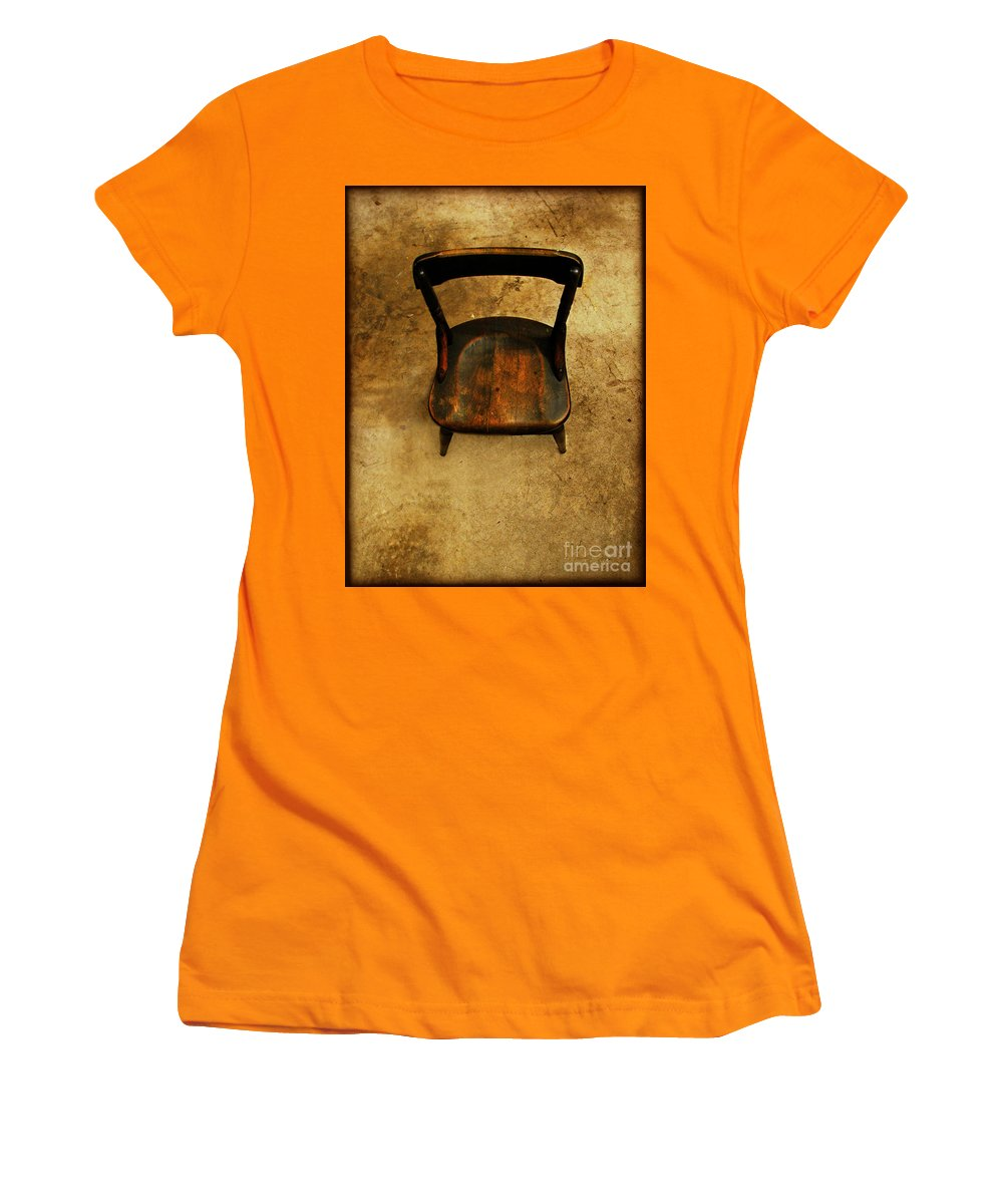Alone Women's T-Shirt (Athletic Fit) featuring the photograph Waiting To Say Goodbye by Dana DiPasquale