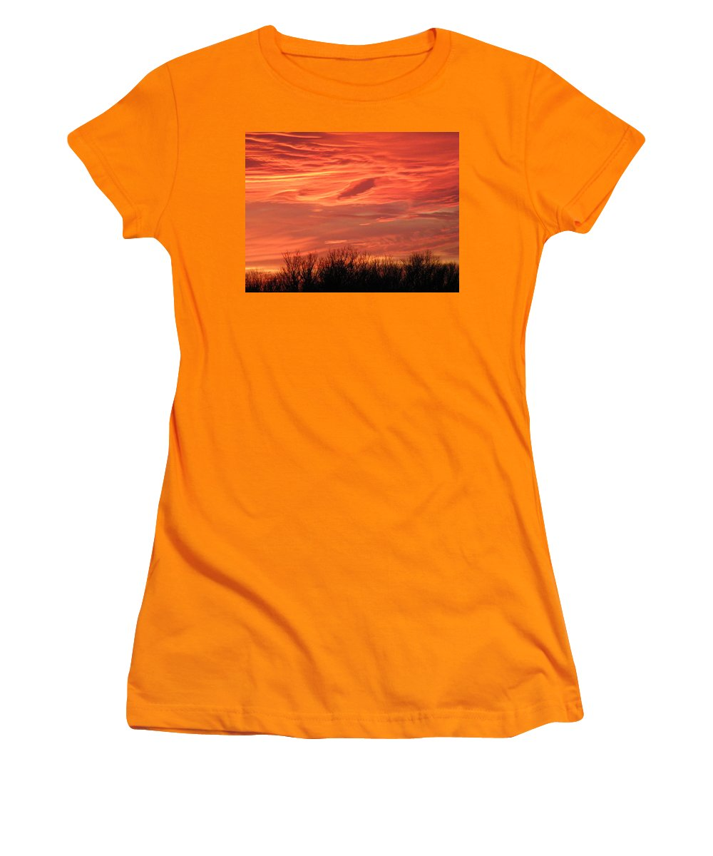 Sunset Women's T-Shirt (Athletic Fit) featuring the photograph Who Needs Jupiter by Gale Cochran-Smith