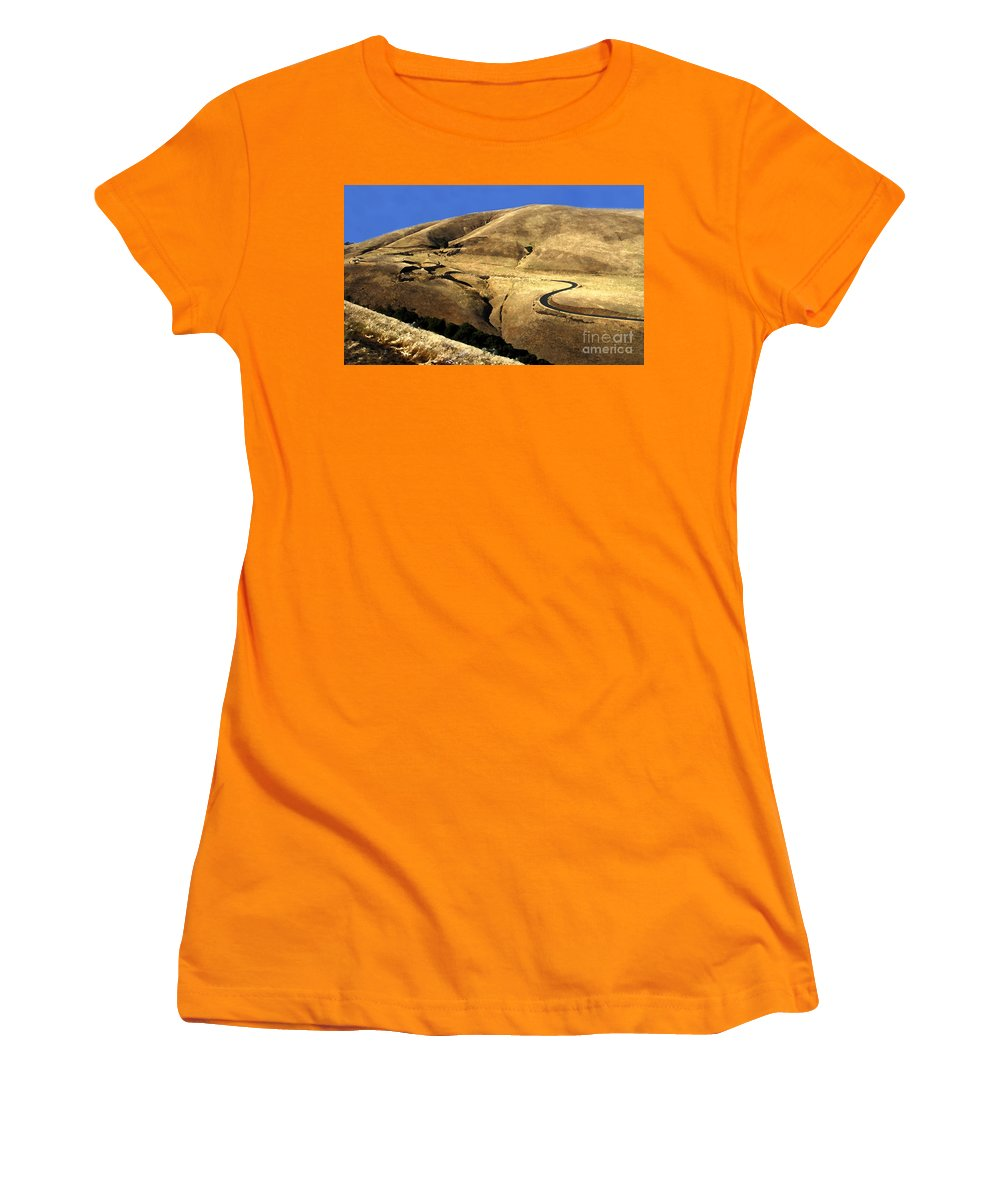 Road Women's T-Shirt (Athletic Fit) featuring the photograph Winding Road by David Lee Thompson