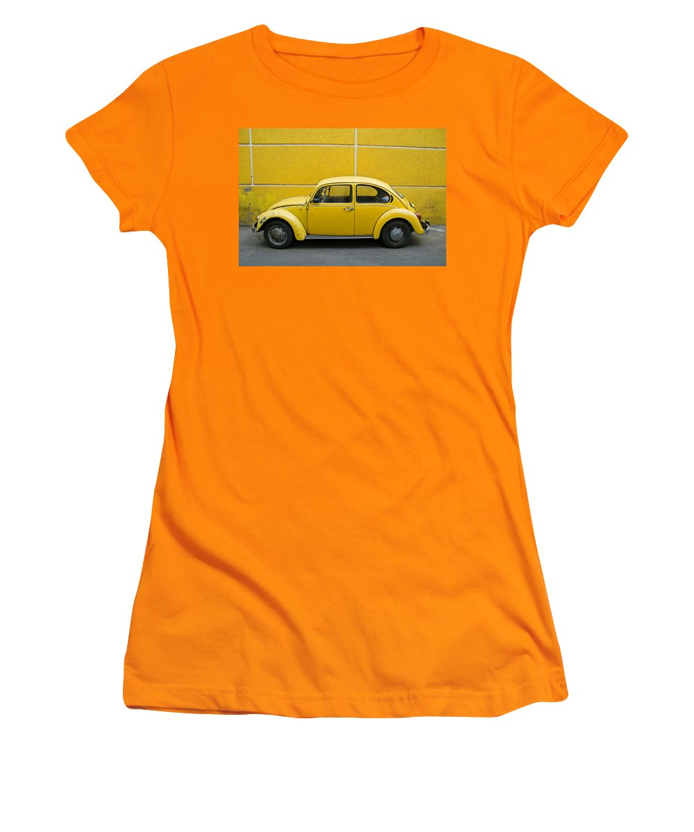 Yellow Women's T-Shirt (Athletic Fit) featuring the photograph Yellow Bug by Skip Hunt