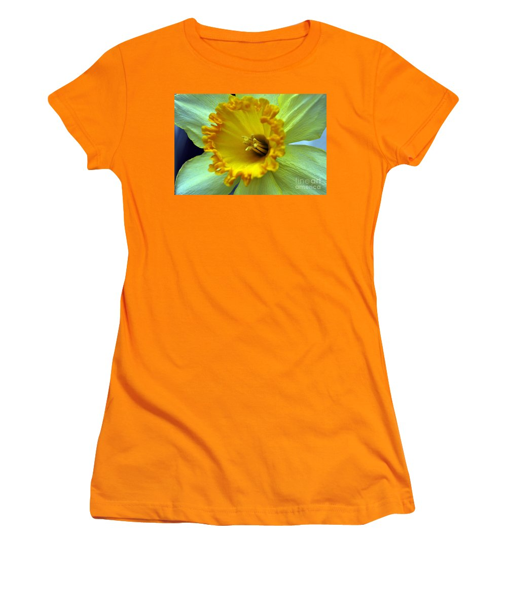 Clay Women's T-Shirt (Athletic Fit) featuring the photograph Yellow Floral by Clayton Bruster