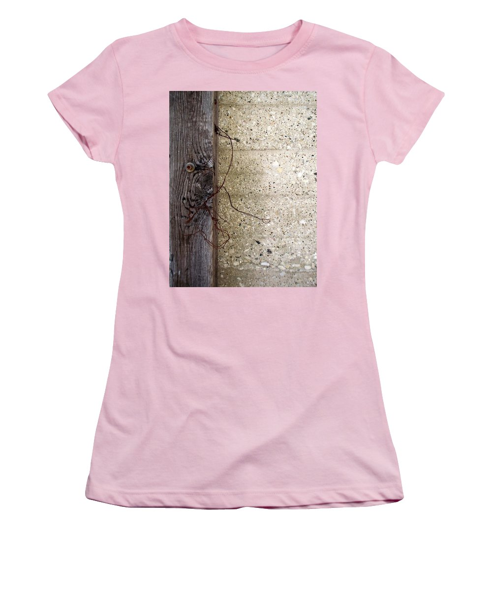 Industrial. Urban Women's T-Shirt (Athletic Fit) featuring the photograph Abstract Concrete 11 by Anita Burgermeister