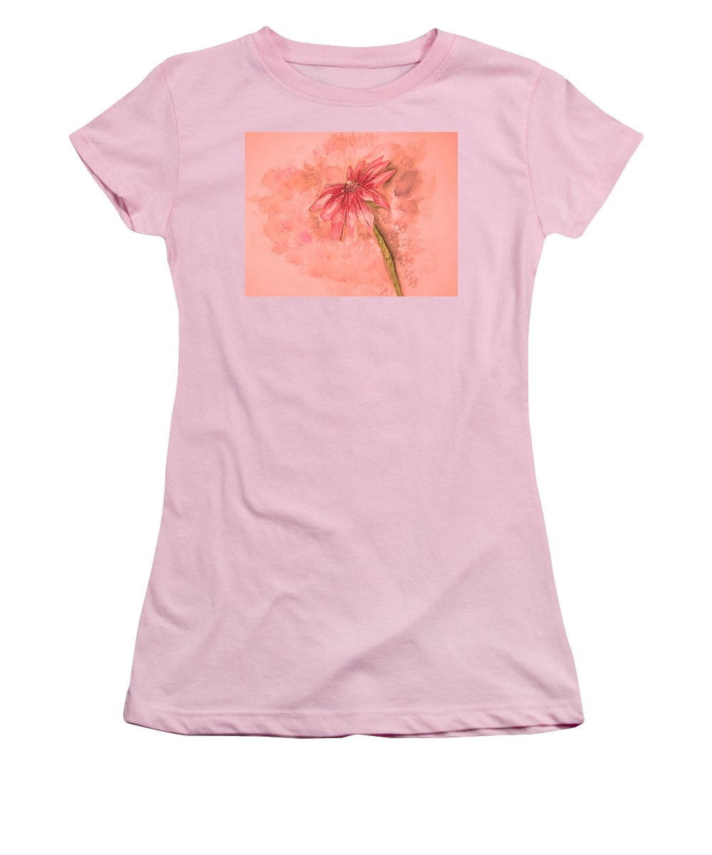 Watercolor Women's T-Shirt (Athletic Fit) featuring the painting Melancholoy by Crystal Hubbard
